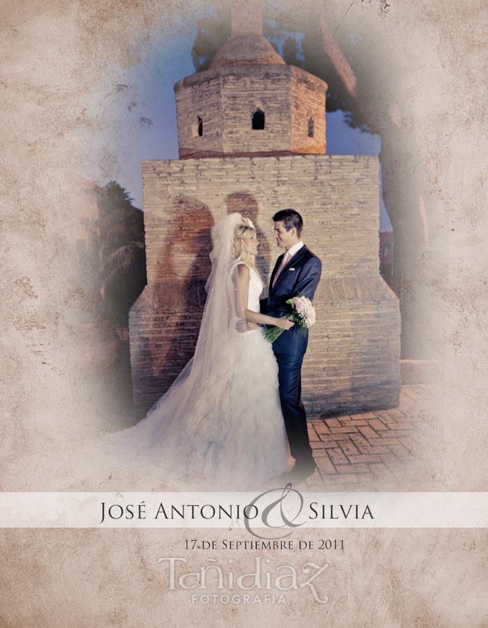 Maquetado Álbum Digital Boda de Silvia y Jose Antonio en Sevilla portada
