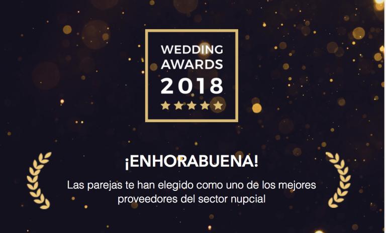 Premio Bodas.net Wedding Awards 2018
