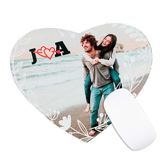 Producto de San Valentín - Alfombrilla para ratón con forma corazón personalizada